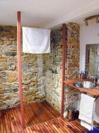 Douche Rustique exemples de belles douches à l'italienne