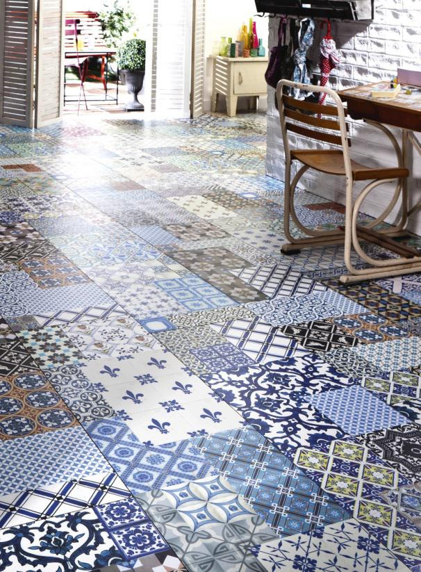 Les plus beaux sols en carreaux ciment for Carrelage clipsable